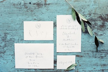 Calligraphy stationery by Gemma Milly