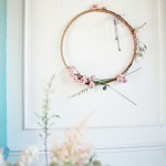 Organic floral hoop display