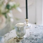 Mecury glass candle holders