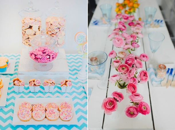 Colourful wedding tablescape styled by Inspire Hire