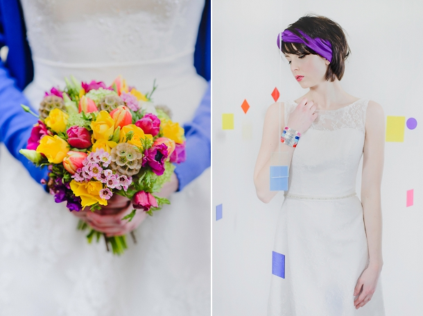 Colourful wedding bouquet by Emma Hewlett Flowers