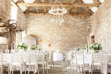 Rustic Luxe Real Bride Dairy Venue Search Almonry Barn