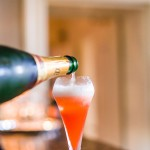 Classic Christmas Champagne Cocktail Recipe with Pomegranate