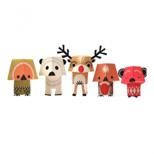 Christmas paper animals from Mibo