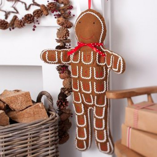 Gingerbread man fabric advent calendar from The Christmas home