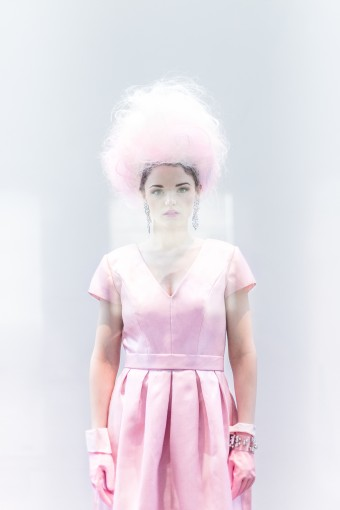 whimsical bubblegum pink bridal fashion shoot