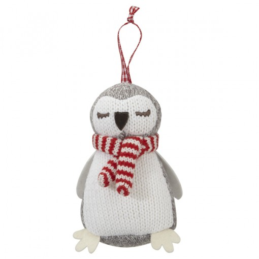 Knitted Owl Decoration from The White Company