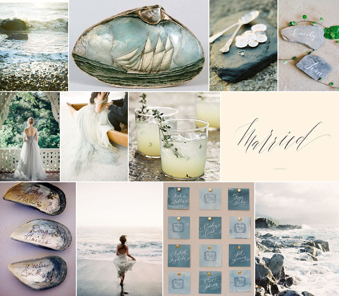Ombre Watercolour blue & grey wedding inspiration