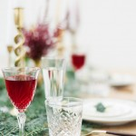 Vintage cut glass christmas table