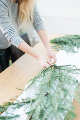 christmas fir table runner DIY