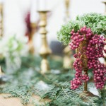 cow parsley & pink peppercorn christmas flowers decoration
