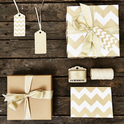 Contemporary christmas wrapping paper set