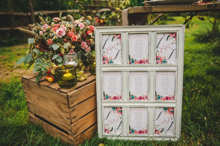 Classic English Kent Countryside table plan