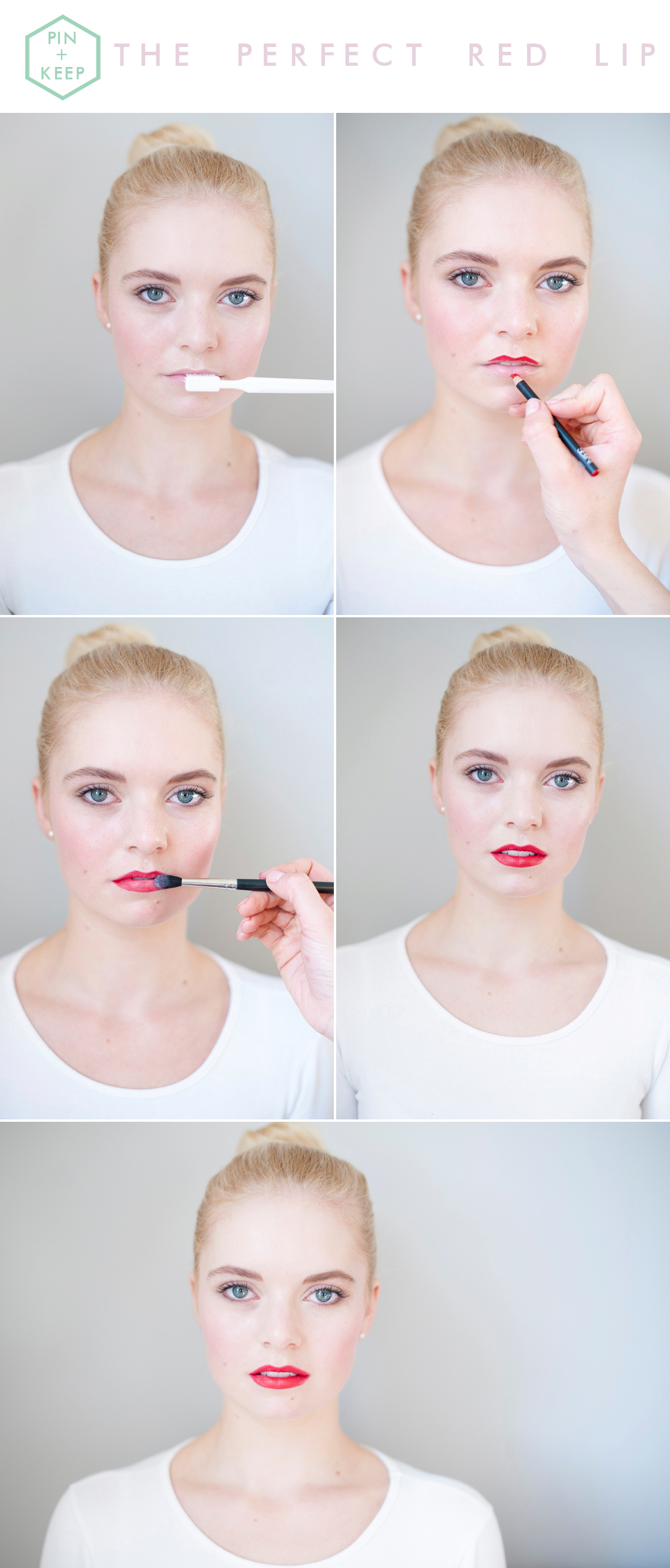Perfect Festive Red Lip Tutorial Sophie Everett - Plenty to Declare Photography - Pinterest