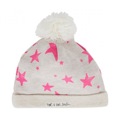 edfb231eaf5 Pink Star Bobble Winter Children s Hat. This jersey one is so bright and  lovely and comes in a black stripe for boys too. It would be particularly  cute on a ...
