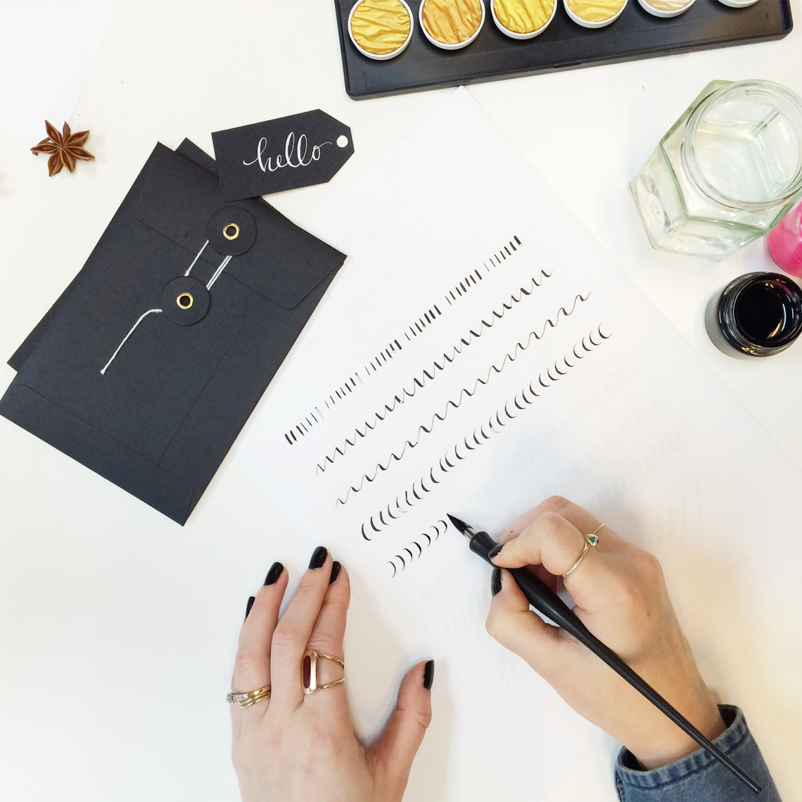 Modern calligraphy classes at lamplighter london