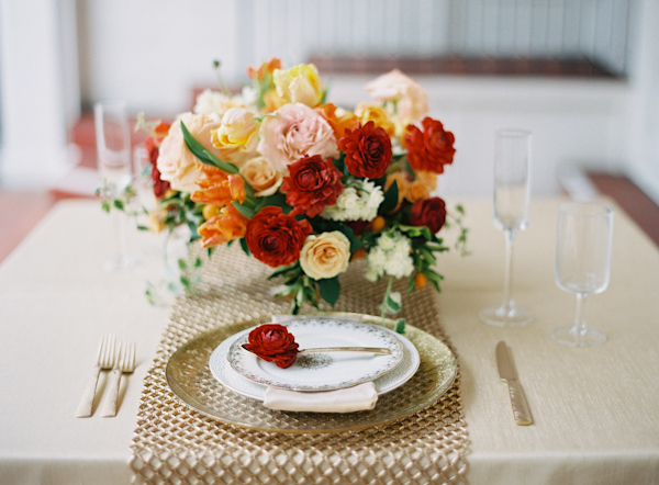 Red & Gold Place setting