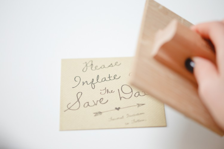 save the date personalised stamp