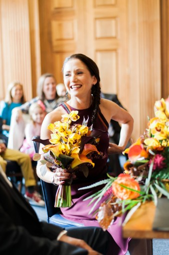 stylish city hall wedding