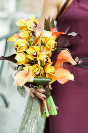 orange marsala wedding bouquet