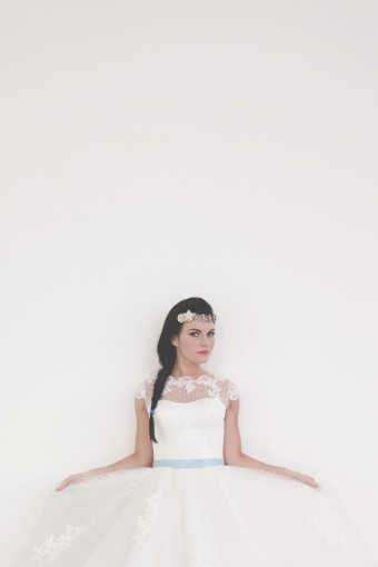 ballerina inspired short tutu wedding dress