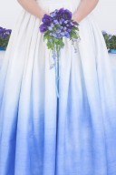 dip dye blue ombre wedding dress
