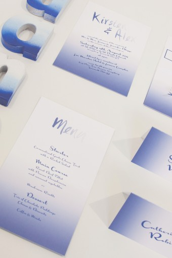 dip dye wedding stationery