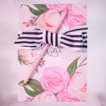Pink floral notebook by Berin Made