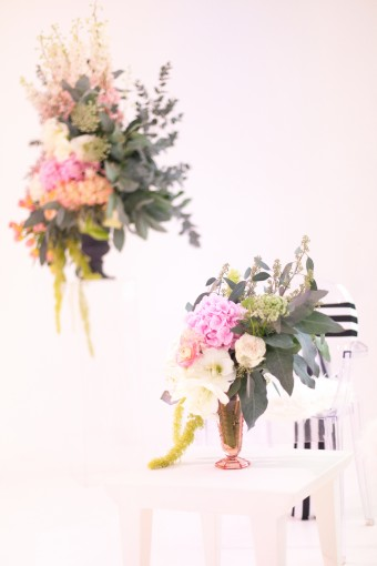 Pink rose & protea floral arrangement by Bo Boutique