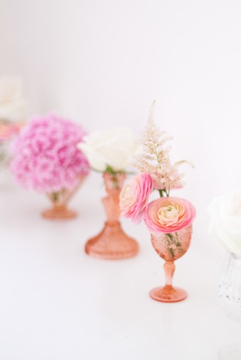 Pink floral arrangements by Bo Boutique