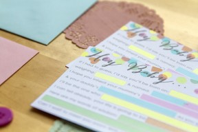 colourful confetti baby shower free printable