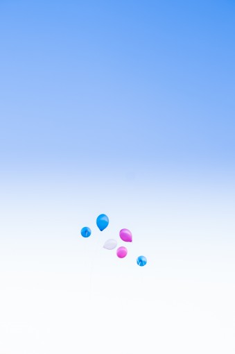 pink & blue balloons