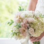 classic white, blush & cream wedding bouquet