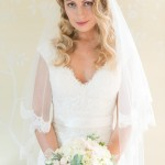 Anasul Y lace wedding dress & lace edged veil