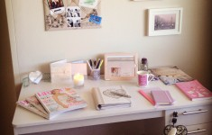 Bride to be's wedding planning desk