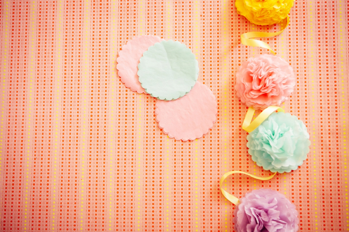 Wedding Party DIY Pom Pom Garland Backdrop by Hip Hip Hooray for B.Loved Blog 4