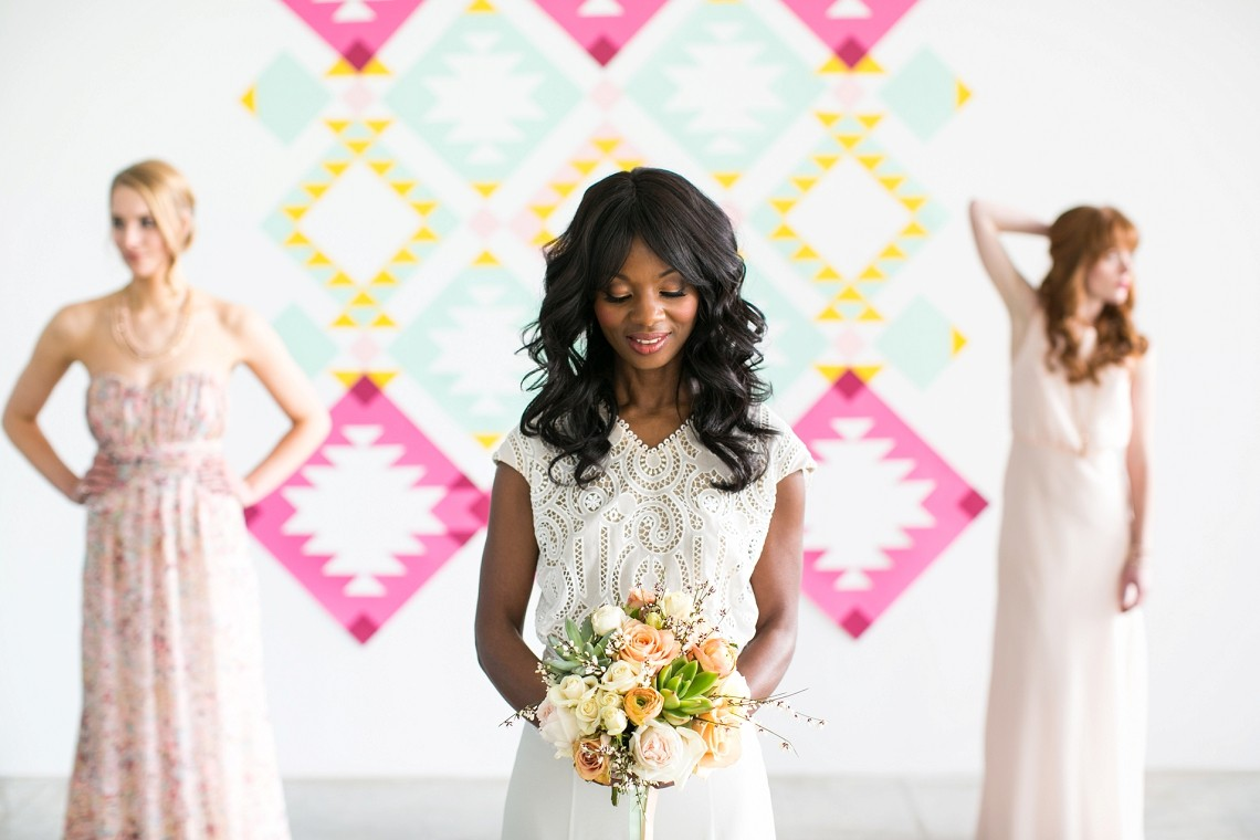 Tribal geometric wedding inspiration from bloved blog weddings ombrellifo Image collections