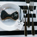black-and-white-place-setting