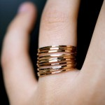 golc stacking rings from Etsy