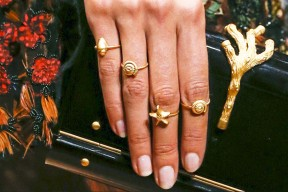 gold shell rings