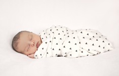 Black triangle swaddle blanket