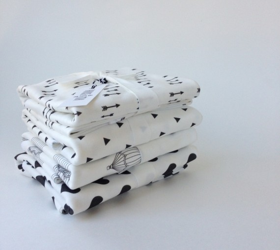 Geometric pattern swaddle blankets