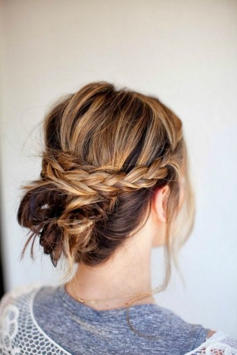 plaited-updo