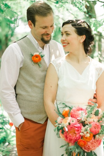 colourful styled engagement shoot