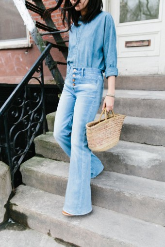 double denim and flares