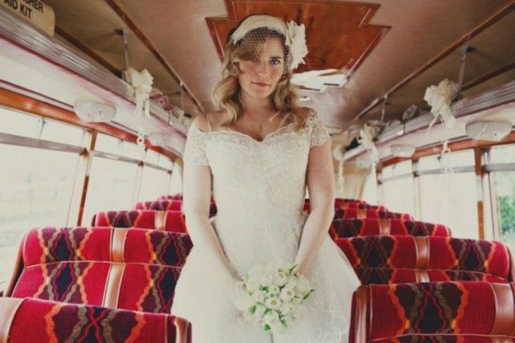 bride-on-a-bus