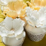 flower topper lace cupcakes