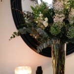 hallway table styling
