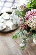 fern and floral arrangement