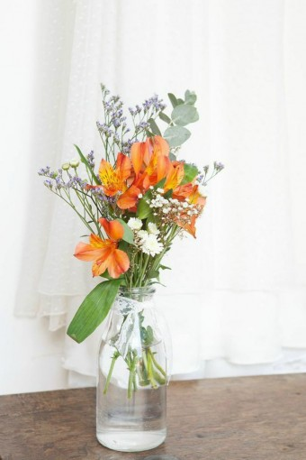 rustic-orange-flowers-in-jar